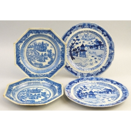 A pair of 19th Century plates