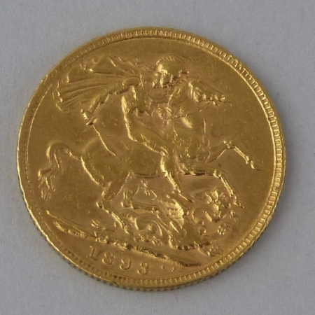 A Victorian gold sovereign