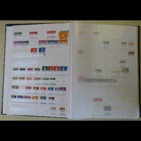 A stock book of Norwegian stamps