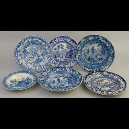 A pair of 19th Century soup plates
