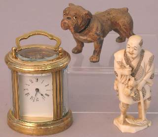 A miniature brass cased carriage clock