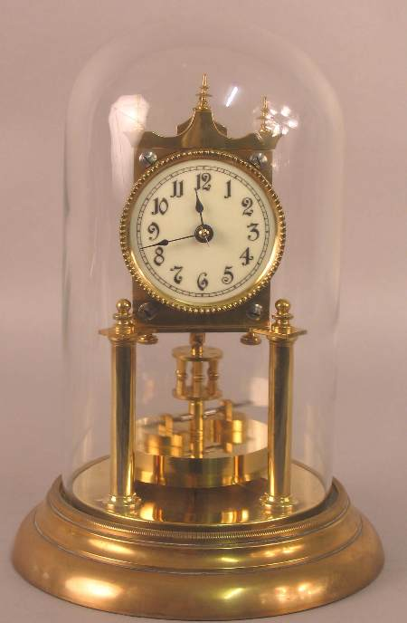 A brass three hundred and sixty five day clock